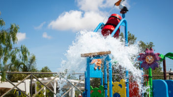 SPRAY PARK CON MATERASSINO